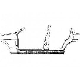 Bas de caisse gauche pour Opel Omega A de 1986 à 1994 version 4 portes