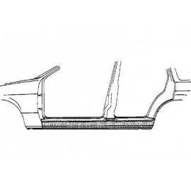 Bas de caisse gauche pour Opel Omega B de 1994 à 1999 version 4 portes