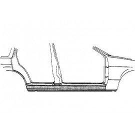 Bas de caisse droit pour Opel Omega B de 1994 à 1999 version 4 portes