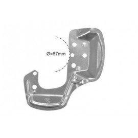 Protection disque de freins, avant gauche (diam 87mm) pour Opel Tigra de 1994 à 2000