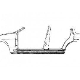 Bas de caisse gauche pour Nissan Sunny N14 de 1991 à 1995 version 4/5 portes