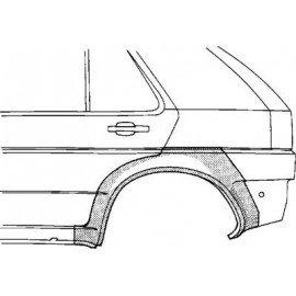 Arc d'aile arrière gauche pour Nissan Sunny N14 de 1991 à 1995 version 4/5 portes