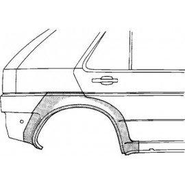 Arc d'aile arrière droite pour Nissan Sunny N14 de 1991 à 1995 version 4/5 portes