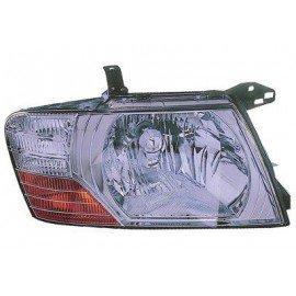 Projecteur droit H4 Interieur chromé pour Mitsubishi Pajero de 2000 à 2006