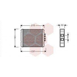Radiateur Chauffage pour Audi A2 version : Toutes de 2000 à 2005