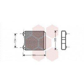 Radiateur Chauffage pour Audi A8 version : Toutes de 1994 à 2001