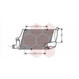 Intercooler pour Audi A8 version : 4.0 TDi - gauche de 2003 à 2010