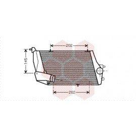 Intercooler pour Audi A8 version : 4.0 TDi - droit de 2003 à 2010