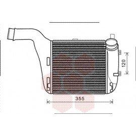 Intercooler pour Audi Q7 version : 6.0 TDi - Gauche de 2008 à 2015