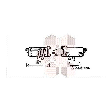 Radiateur Huile pour BMW serie 5 version : 520i / 523i / 525i / 530i / 540i / 550i - Gearbox de 2003 à 2010