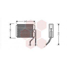 Radiateur Chauffage pour Daewoo Nexia version : Toutes de 1994 à 1998