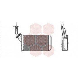 Radiateur Chauffage pour Citroen AX version : Toutes sauf 1.3 Sport et durites démontable de 1986 à 1991