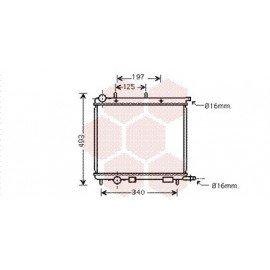 Radiateur Moteur pour Citroen C2 version :  1.1 / 1.4 - 1.1 : 44kW / 1.4 : 55kW / 1.1 : 43kW / 1.4 : 54kW /1.4 HDi - kW 50 de 2003 à 2008