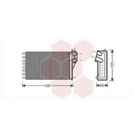 Radiateur Chauffage pour Citroen C2 version : Toutes  de 2003 à 2008