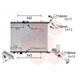 Radiateur Moteur pour Citroen C4 version : 1.4 16V / 1.6 16V / 2.0 16V - Universal de 2004 à 2010