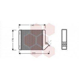 Radiateur Chauffage pour Citroen C15 version : Toutes de 1984 à 2005