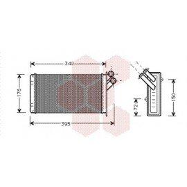 Radiateur Chauffage pour Citroen Evasion version : Toutes  de 1994 à 2002