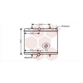 Radiateur Moteur pour Citroen Jumpy version : 1.6 HDi / 2.0 HDi de 2006 à 2014