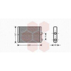 Radiateur Chauffage pour Citroen Jumpy version : Toutes sauf airco arrière de 2006 à 2014