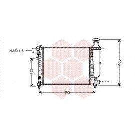 Radiateur Moteur pour Citroen Saxo version : 1.0 / 1.1 / 1.4 - -> 8882 / 1.6 i - -> 8882 de 1995 à 2001