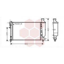 Radiateur Moteur pour Citroen Saxo version : 1.1 / 1.4 - 8882 / 1.4 - 8882 / 1.6 i - 8882 de 1995 à 2001