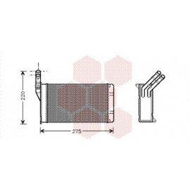 Radiateur Chauffage pour Citroen Xantia version : Toutes - volant à gauche type Behr de 1993 à 2002