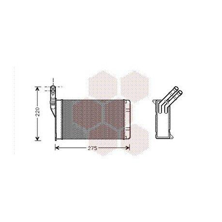 radiateur chauffage citroen xsara ann e 2002 2004 version essence diesel r f 09006082 pour. Black Bedroom Furniture Sets. Home Design Ideas