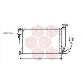 Radiateur Moteur pour Citroen ZX version : 1.1 / 1.4 / 1.6 Avantage / 1.8 Furio / 1.8 & 1.9 D - Bayonet bottom hose de 1991 à 1993