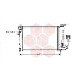 Radiateur Moteur pour Citroen ZX version : 2.0 8V - 2.0 16V - 1.8 / 1.9 Diesel - Bayonet bottom hose de sept 1993 à 1998