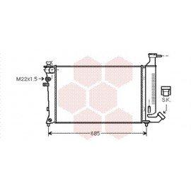 Radiateur Moteur pour Citroen ZX version : 1.8 Furio - 1.8 / 1.9 Diesel - Bayonet bottom hose de 1994 à 1997