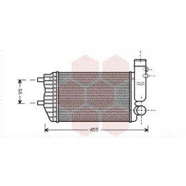 Intercooler pour Fiat Ducato version : 1.9 Turbo Diesel / 2.5 Turbo Diesel de 1994 à 2001