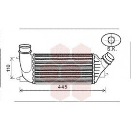 Intercooler pour Fiat Scudo version : 2.0 HDi - kW120 de 2006 à 2015
