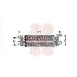 Intercooler pour Ford Fusion version : 1.4 TDCi / 1.6 TDCi de 2002 à 2005