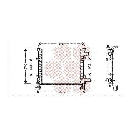 radiateur moteur ford ka ann e 1996 2002 version essence r f 18002260 pour ford ka. Black Bedroom Furniture Sets. Home Design Ideas