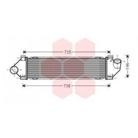intercooler pour Ford S-MAX version : 1.6 TDCi / 1.8 TDCi / 2.0 TDCi de mars 2006 à 2015