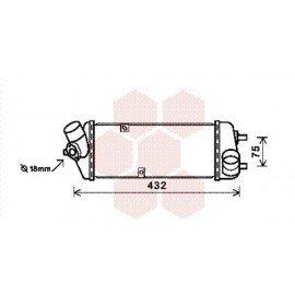 Intercooler pour Hyundai Accent version : 1.5 CRDi de 2005 à 2011