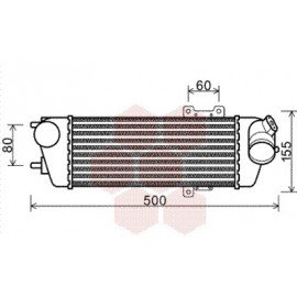 Intercooler pour Hyundai i30 version : 1.6 CRDi / 2.0 CRDi de 2007 à 2012