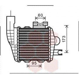 Intercooler pour Hyundai Tuckson version : 2.0 CRDi de 2004 à 2008