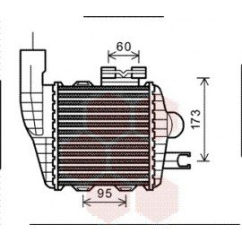 Intercooler pour Kia Sportage version : 2.0 CRDi de 2004 à 2008