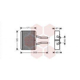 Radiateur de chauffage pour Mazda Demio Tout modèle de 1999 à 2002
