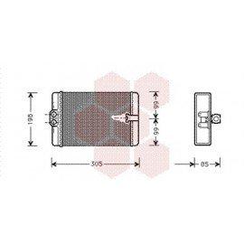 Radiateur Chauffage pour Mercedes Classe CLK W208 version : Toutes de 1997 à 2002
