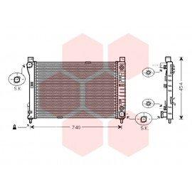 Radiateur Moteur pour Mercedes Classe CLK W209 version : CLK 200 / CLK 240 / CLK 280 / CLK 320 / CLK 220 2.2 CDi PF de 20002 à 2009