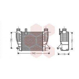 Radiateur Moteur pour Nissan Note version : 1.5 DCi - kW50/63 de 2006 à 2015