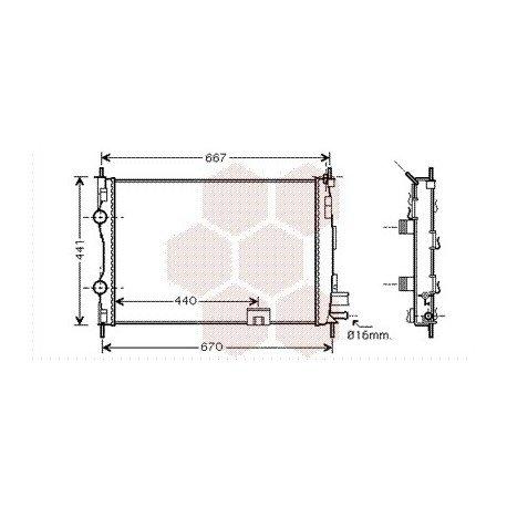 radiateur moteur pour nissan qashqai version 1 5 dci de 2007 2014 pour nissan qashqai. Black Bedroom Furniture Sets. Home Design Ideas