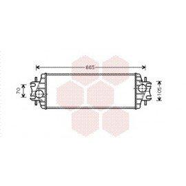 Intercooler pour Opel Vivaro version : 1.9 Diesel / 1.9 DTi / 2.5 DTi - See drawing de 2000 à 2006