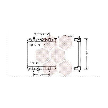 radiateur moteur pour peugeot 206 version 1 1 1 4 8v de 2002 2006 pour peugeot 206. Black Bedroom Furniture Sets. Home Design Ideas