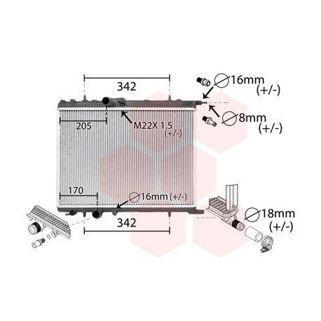 radiateur moteur pour peugeot 206 version 2 0 hdi de 1998 2006 pour peugeot 206. Black Bedroom Furniture Sets. Home Design Ideas