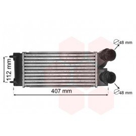 Intercooler pour Peugeot 5008 version : 1.6 HDi kW80 de 2009 à 2011
