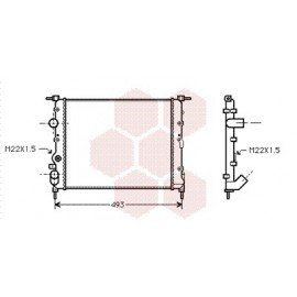 radiateur moteur pour renault clio carrossauto. Black Bedroom Furniture Sets. Home Design Ideas