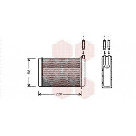 Radiateur Chauffage pour Renault Express version : tuyeau demontable de 1985 à 1991